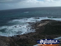 Ocean View from Cape Leeuwin Lighthouse . . . CLICK TO ENLARGE