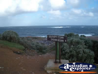 Cape Leeuwin Oceans Merge Sign . . . CLICK TO ENLARGE