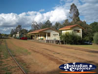 Train Station in Dwellingup Hotham Valley Tourist Railway  . . . CLICK TO ENLARGE