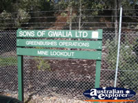 Greenbushes Mine Lookout Sign . . . CLICK TO ENLARGE