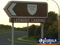 Leemans Landing Sign . . . CLICK TO ENLARGE