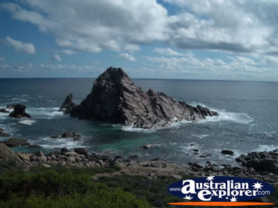 Leeuwin Naturaliste National Park Sugarloaf Rock . . . CLICK TO VIEW ALL CAPE LEEUWIN-NATURALISTE NP POSTCARDS