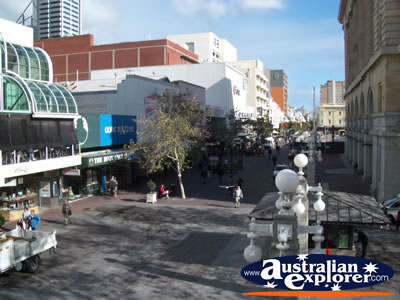 Perth Cbd Shopping Area . . . CLICK TO VIEW ALL PERTH (SHOPPING) POSTCARDS