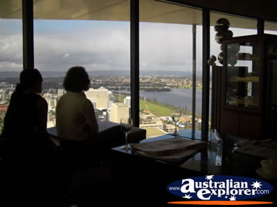 Inside C Restaurant In The Sky St Martins Tower . . . CLICK TO VIEW ALL PERTH (VIEW FROM C RESTAURANT) POSTCARDS